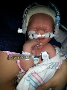 I was so scared, but desperate to hold him...and they said YES! even on CPAP!